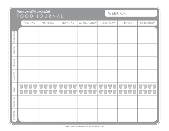food exercise journal template koni polycode co