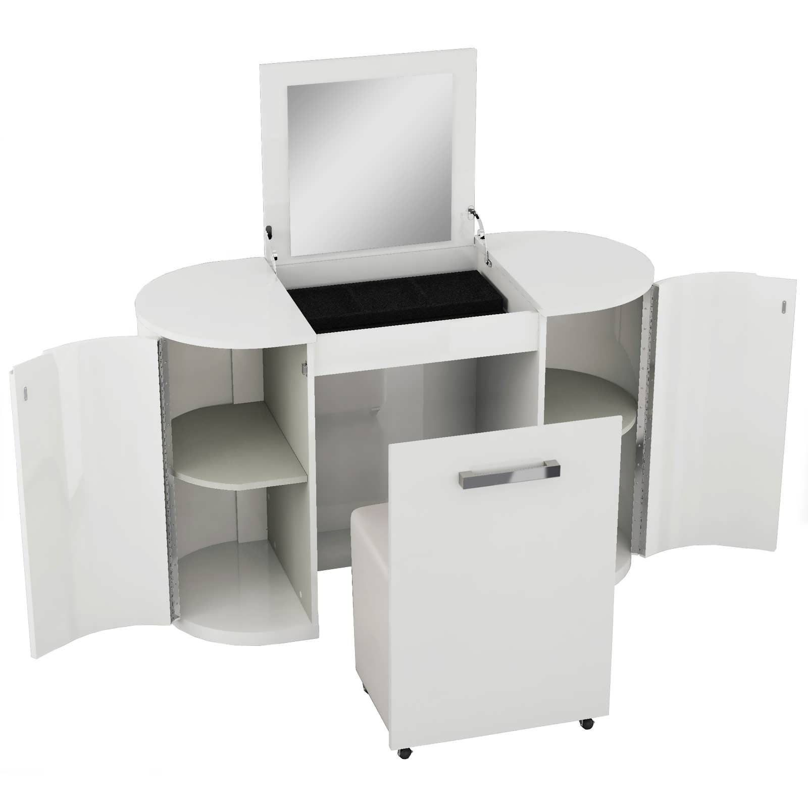 99+ White High Gloss Corner Desk - Large Home Office Furniture Check ...