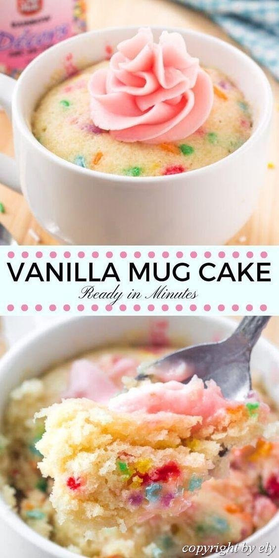 Vanilla #Mug #Cake in 2020 | Mug recipes, Microwave mug ...