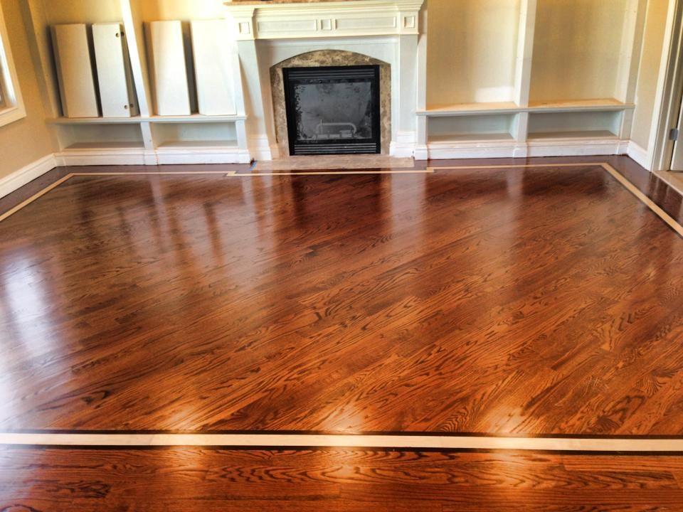 Floor Red Oak 3 1/4 Stain english chestnut. Border