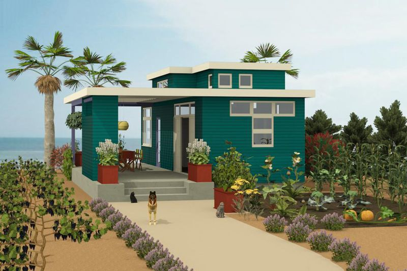 Contemporary Style House Plan 1 Beds 2 Baths 584 Sq Ft Plan 917 5