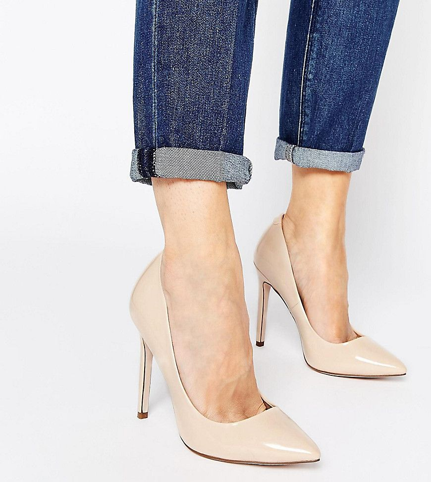 Women ASOS PLAYFUL Wide Fit Pointed Pointed Heels Nude Factory Price