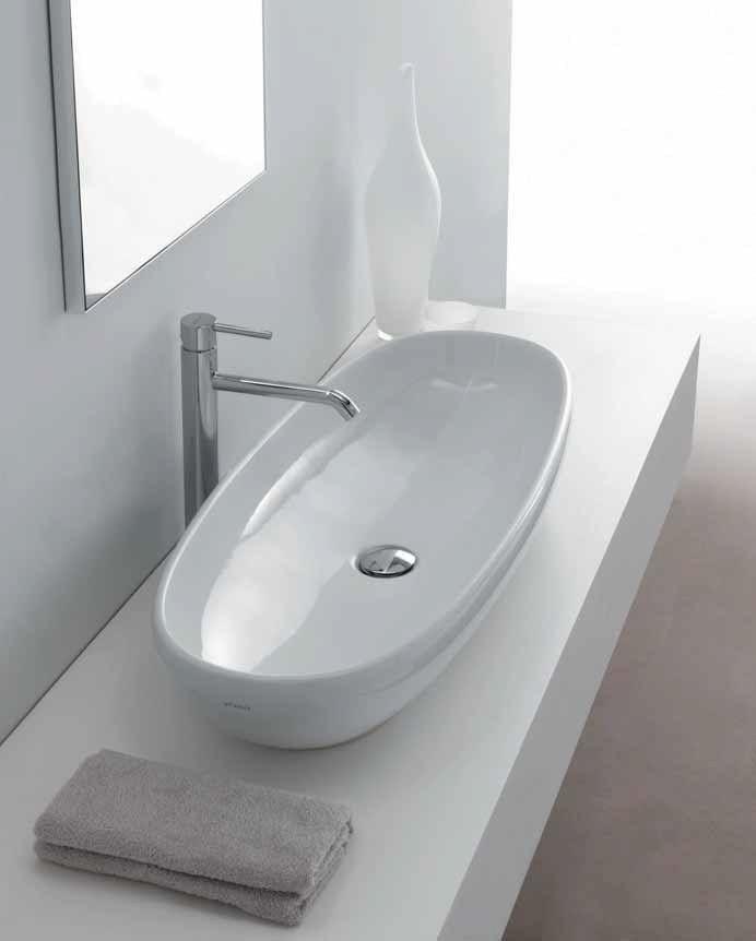 Countertop oval ceramic washbasin EL1 87   Washbasin - GALASSIA