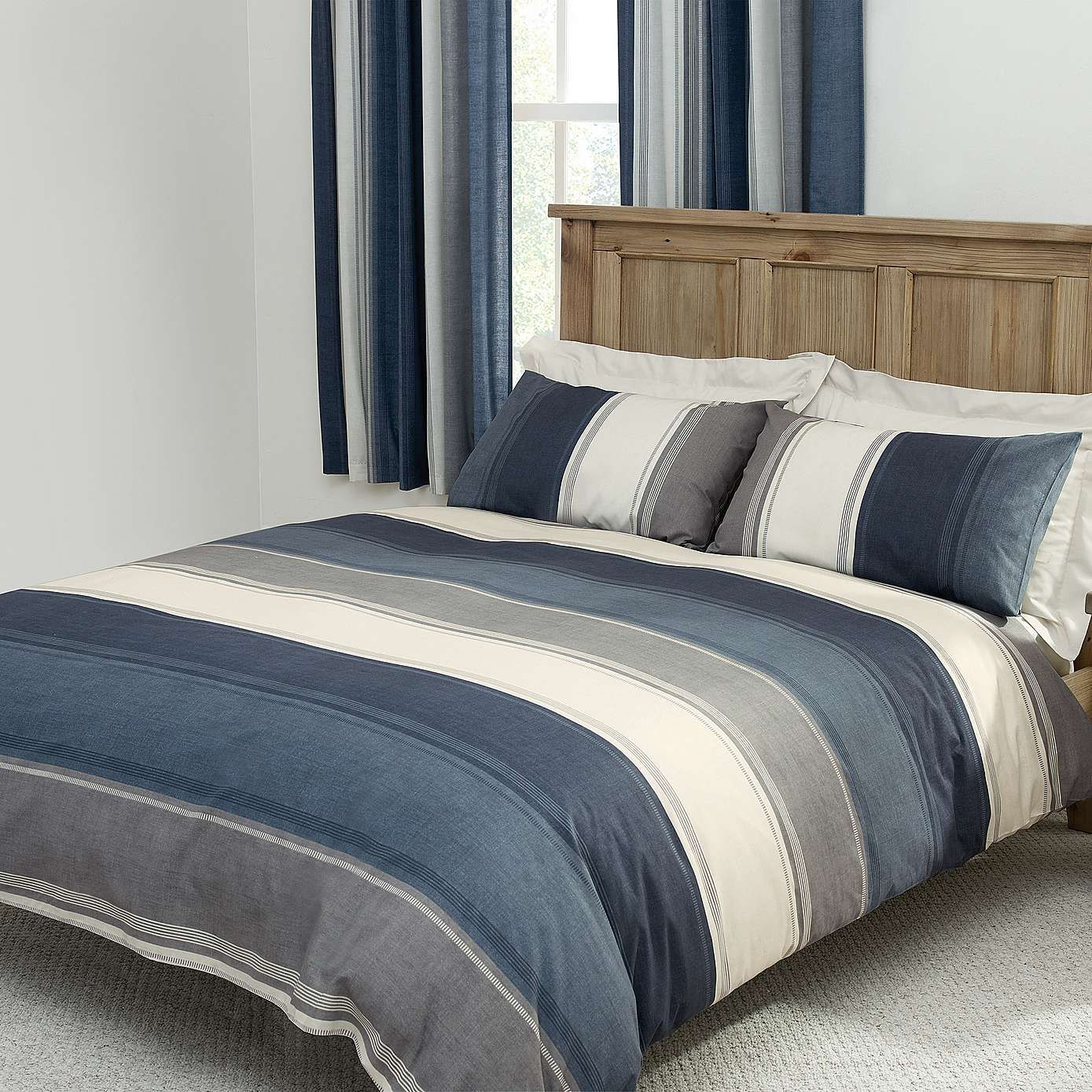Blue Finley Bed Linen Collection Dunelm Master