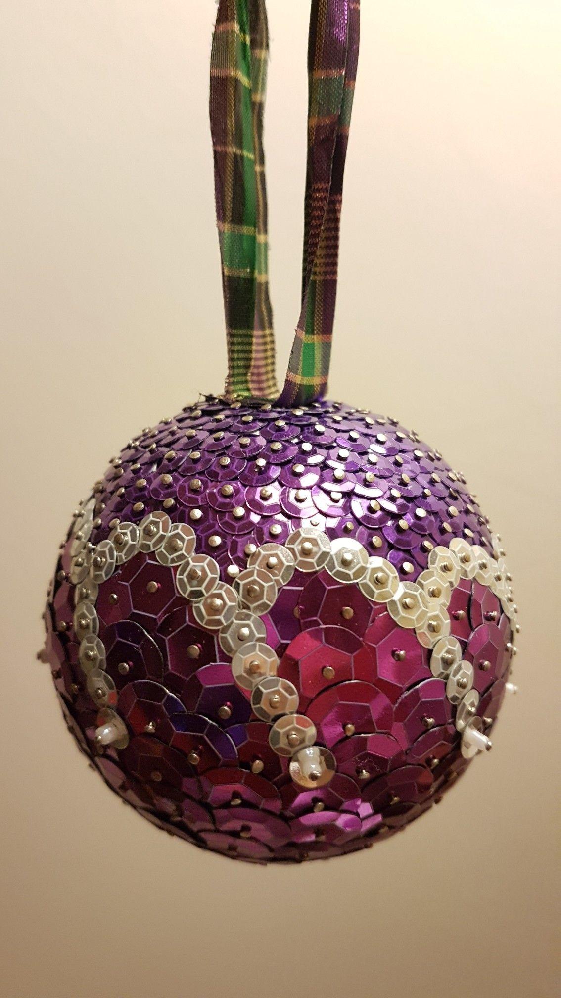 Purple Christmas Christmas Ornaments Homemade Diy Christmas Ornaments Sequin Ornaments