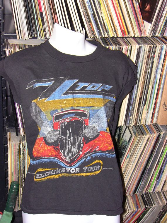 ab8067c1c7937e Vintage 80s ZZ Top Eliminator Tour Muscle Tshirt by theleechpit