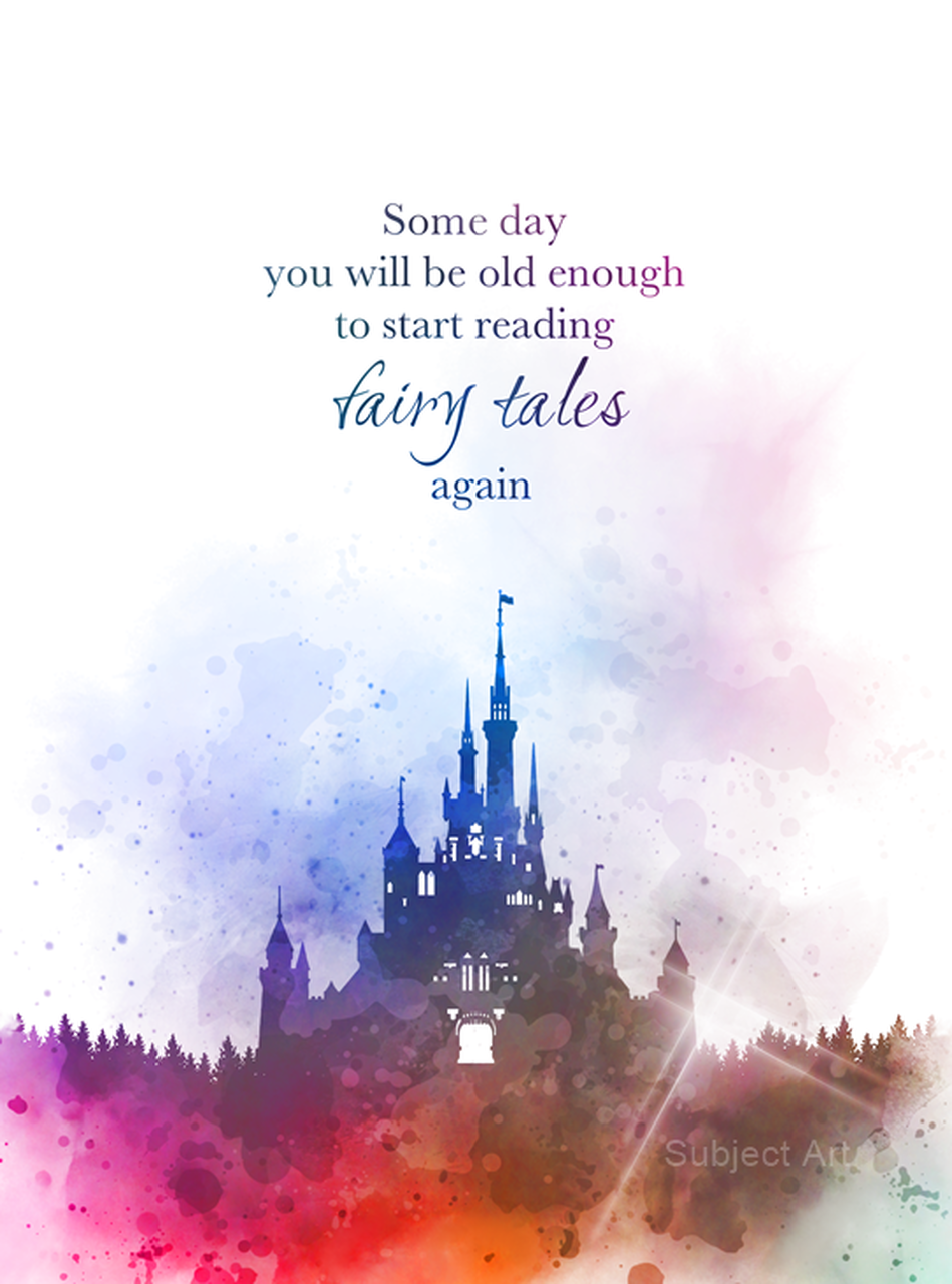 Some day you will be old enough to start reading fairy tales again, Quote, ART PRINT, CS Lewis, Castle, Inspirational, Gift, Wall Art, Home Decor, disney, fairy tale, watercolour, gift ideas, quotes, birthday, christmas, book lover #Quote #ARTPRINT #CSLewis #Castle #Inspirational #Gift #WallArt #HomeDecor #disney #fairytale #watercolour #giftideas #quotes #birthday #christmas #book lover