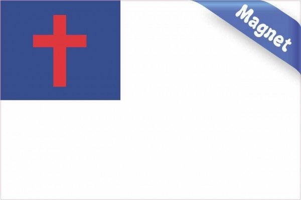 6in X 4in Christian Flag Magnet Magnetic Vehicle Sign Stickertalk Christian Flag Magnetic Car Signs Vinyl Magnets