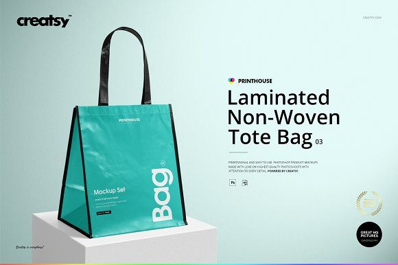 Download Laminated Non Woven Bag 03 Mockups Non Woven Bags Woven Tote Bag Woven Bag