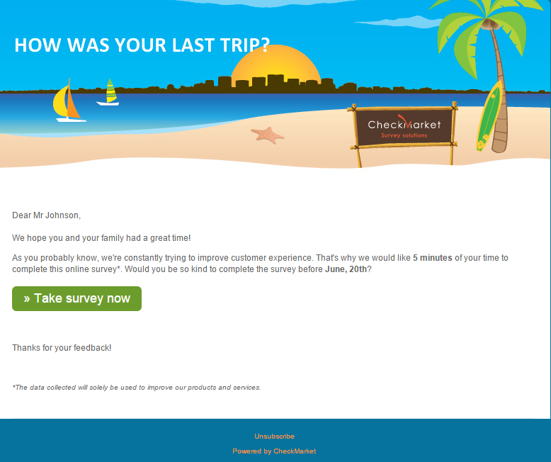 Email Invitation Survey Template  Email Marketing Ideas