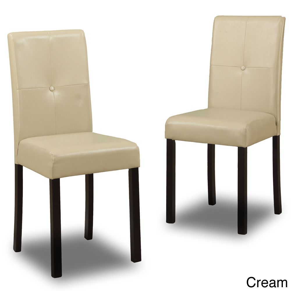 Baxton Studio Asher Modern Dining Chairs Set Of 4 Overstock