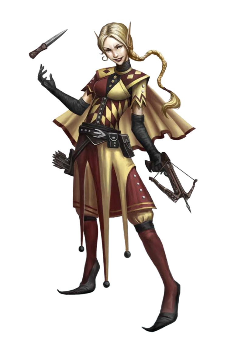 Female Elf Bard Jester Pathfinder Pfrpg Dnd Dd 35 5th Ed D20