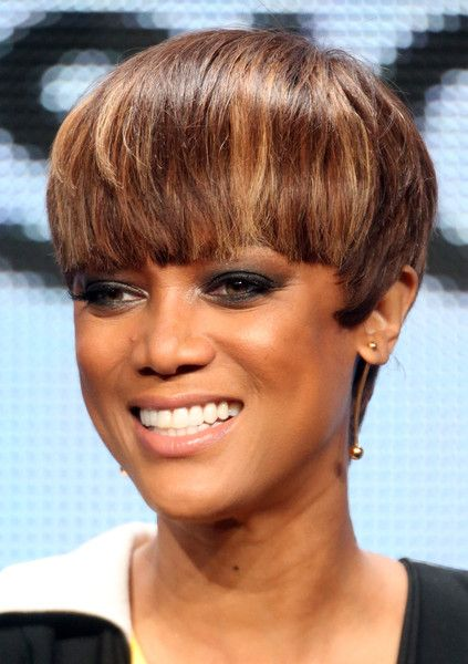 Tyra Banks Bowl Cut | Bowl cut, Tyra bank and Short hairstyle