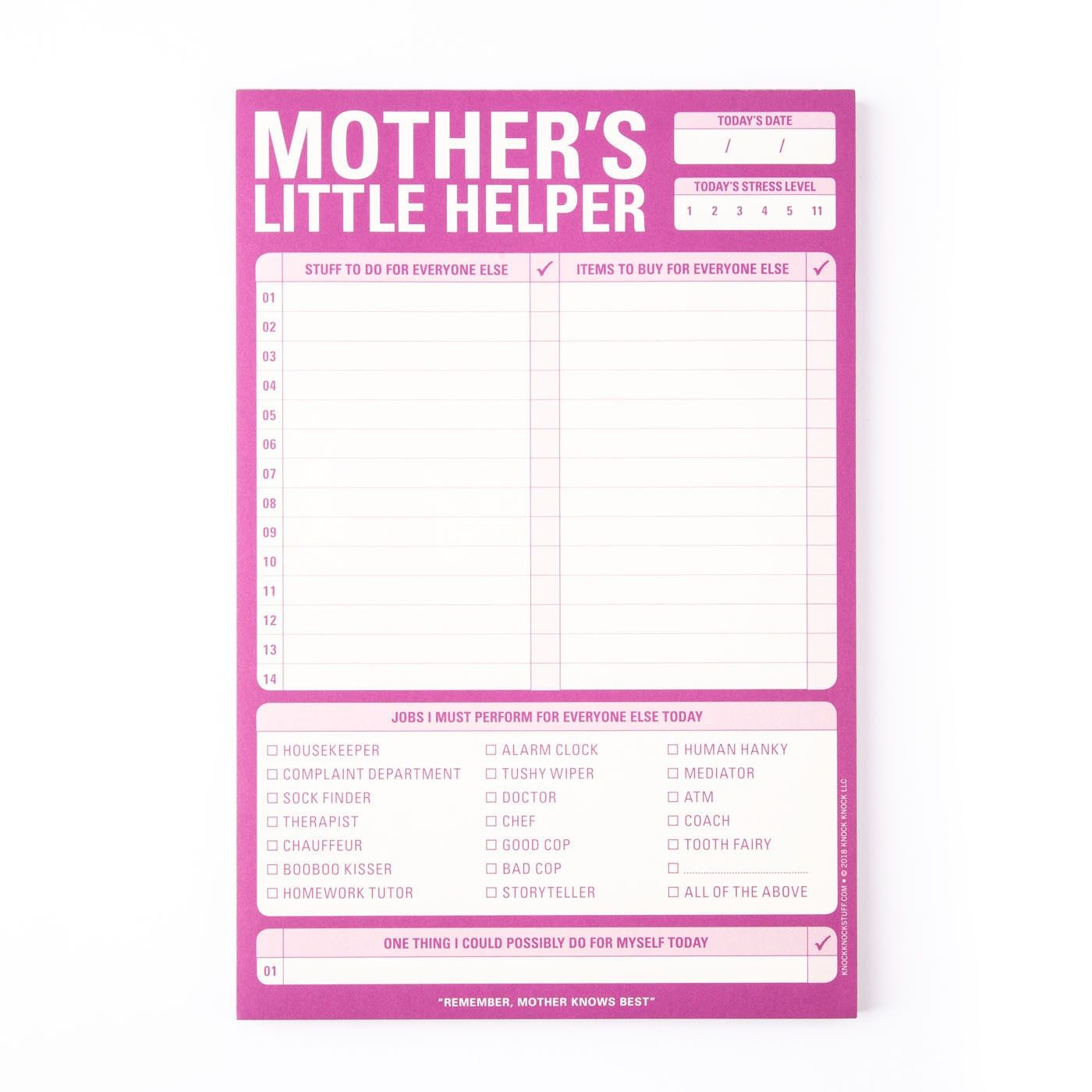 Mother s Little Helper Notepad Mom