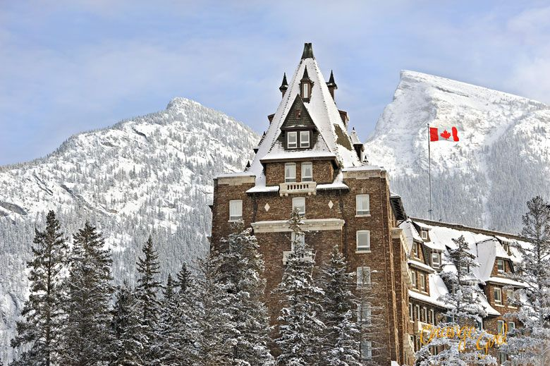 Fairmont Banff Springs in winter photo by