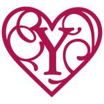 heart flourish monogram y