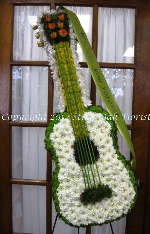 Floral Guitar Funeral Floral Arrangements Funeral