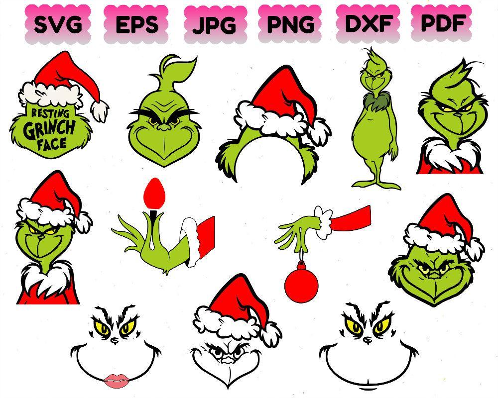 Grinch Svg Grinch Bundle Svg Christmas Svg Christmas