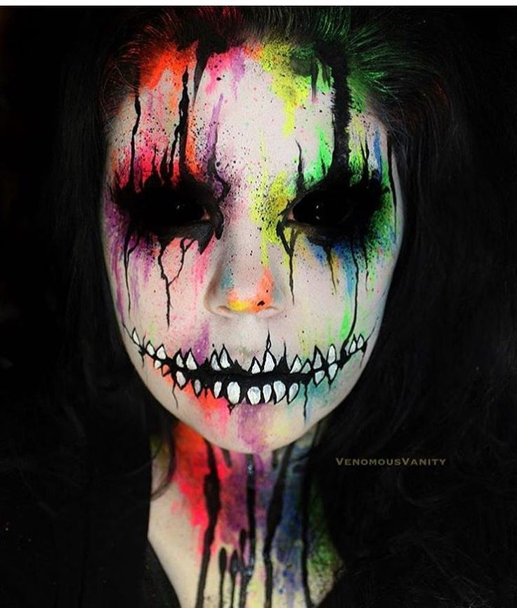 Easy Scary Face Paints