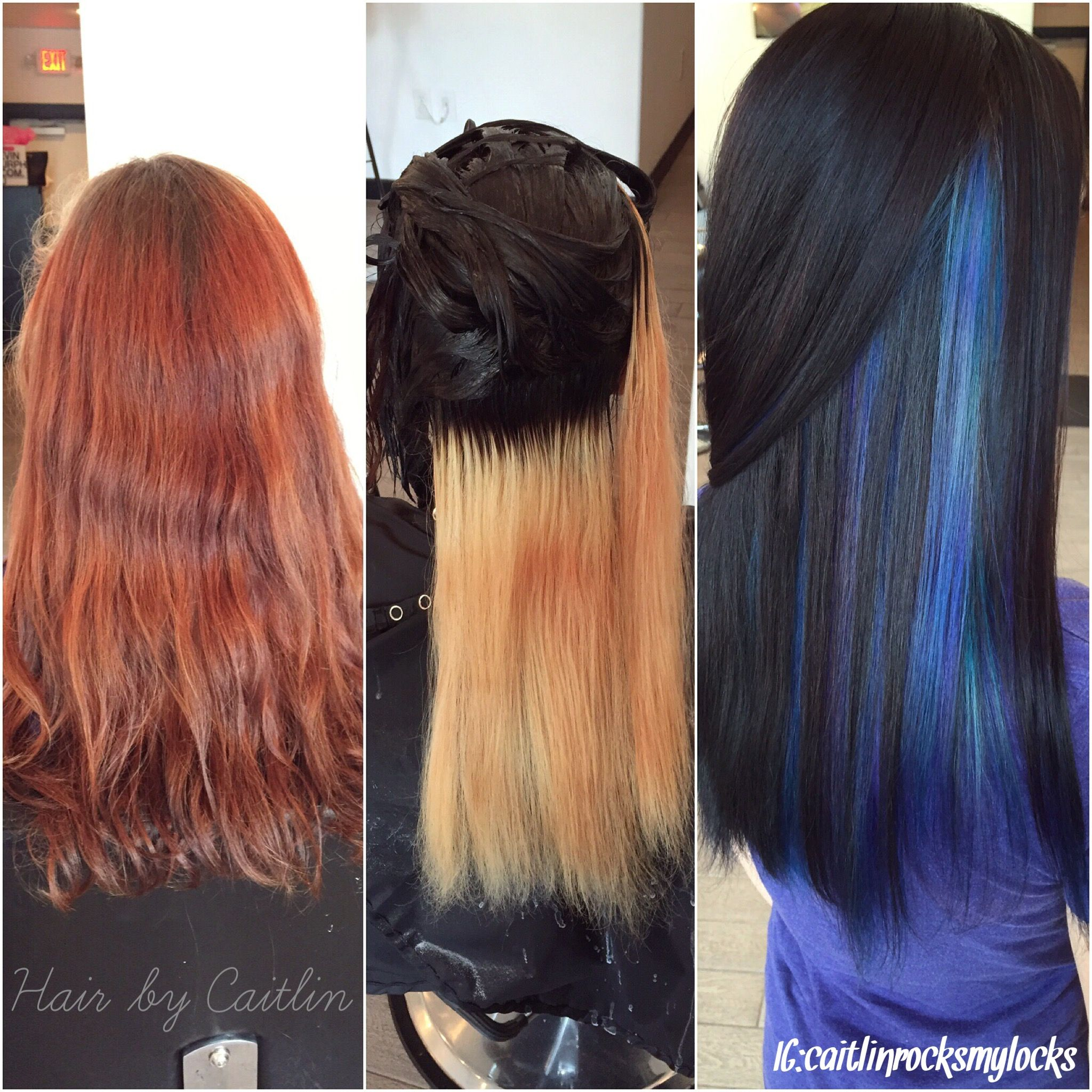 Underlights Hair process Start to 1st process to finish Purple