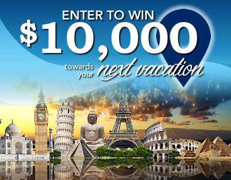 How would you like to win $10,000 toward your next dream vacation?   Click the pic and enter away!!