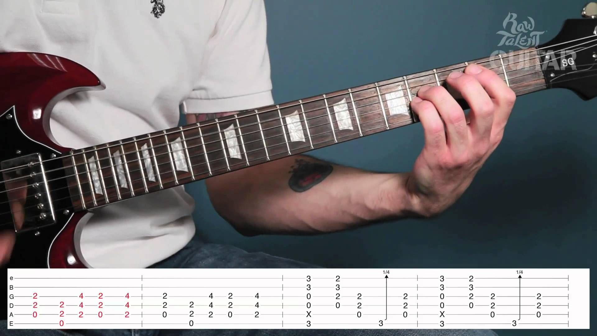 Learn How To Play Back In Black by AC DC on Guitar video lesson