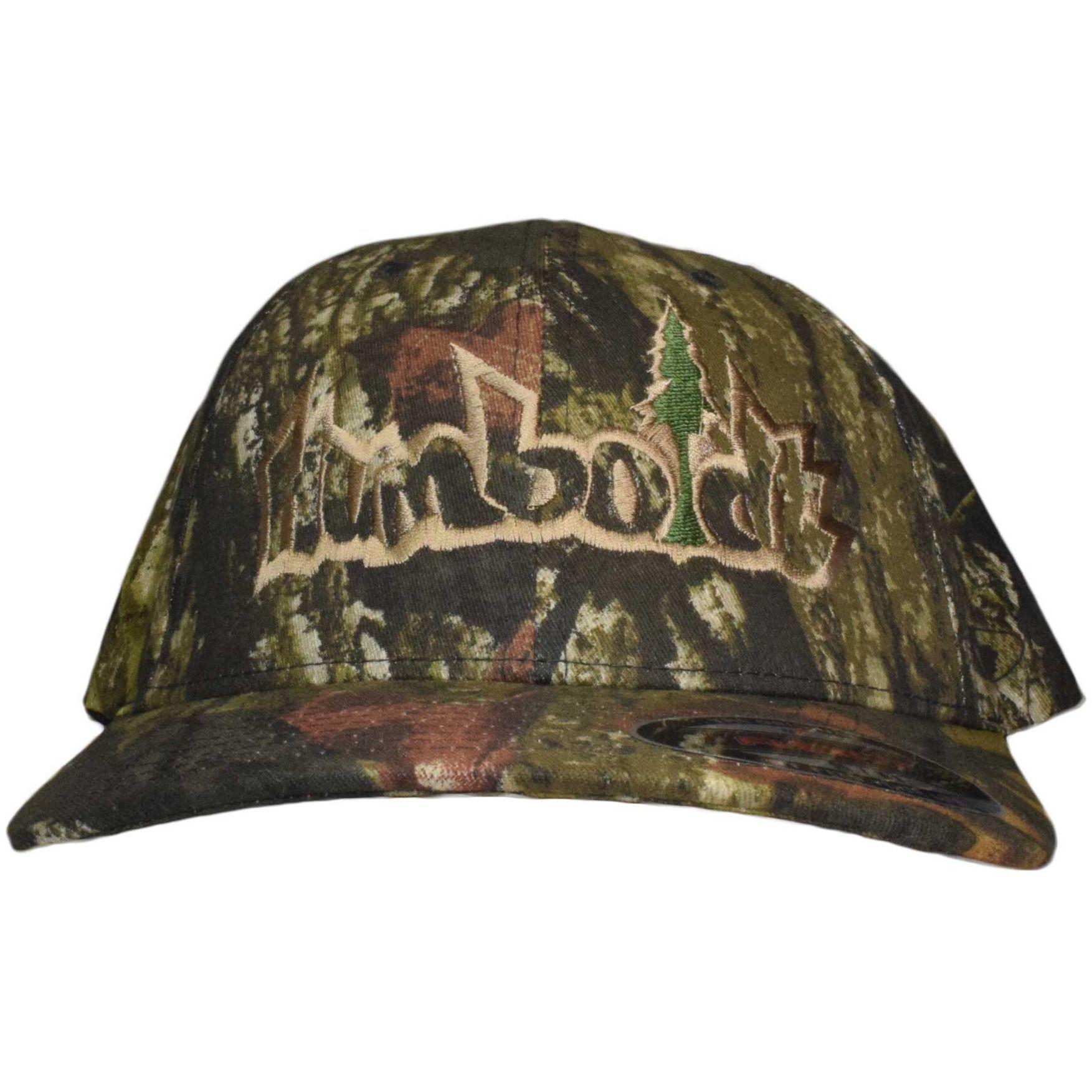 f742e687462 Curved Bill Treelogo Outline Mossy Oak Break Up Flex Hat