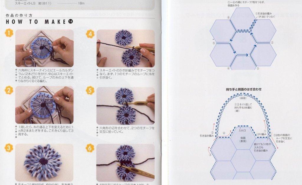 Patrones para Crochet: Bolso de Flores con Telar | TEZGAHLA ÖRGÜ 5 ...