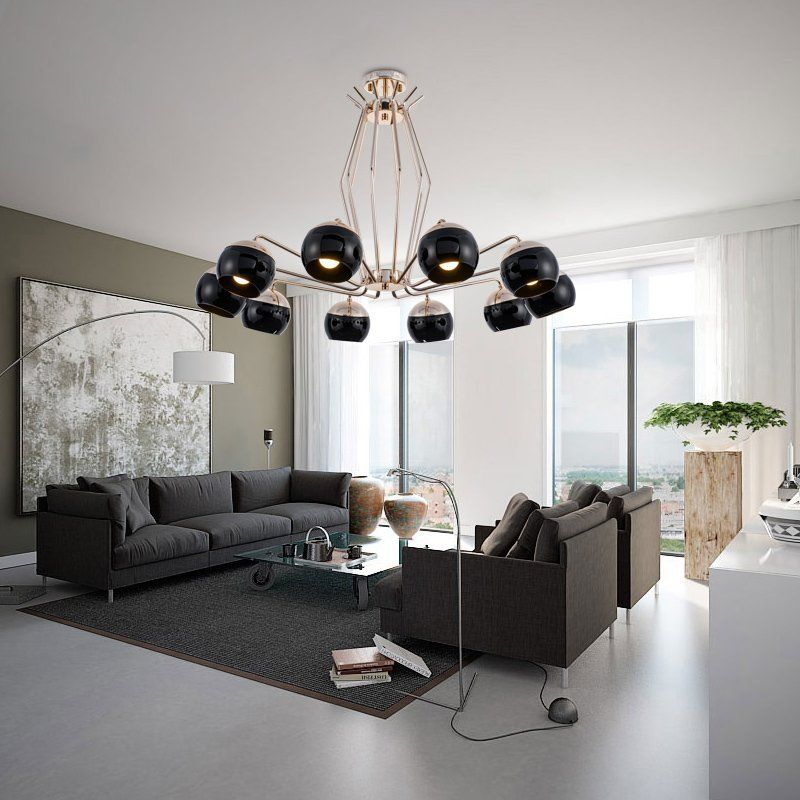 Postmodern Simple Personality Designer Living Room Dining Room Bedroom Model Room Creative Metal Chandelier Simig Lighting Design Interior Dining Room Light Fixtures Living Room Lighting