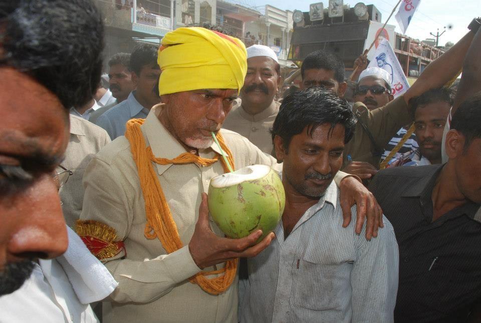 Nara Chandrababu Naidu @ Vastunna Meekosam pada yatra