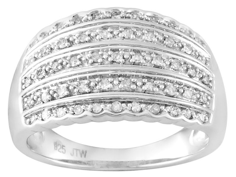 87eb2b957 diamond rhodium over sterling silver ring .25ctw | *Jewelry > Rings ...