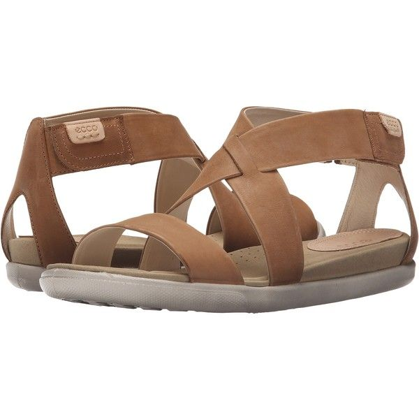 ECCO Damara Strap Sandal (Camel) Women's Shoes (125 CAD) ❤ liked on