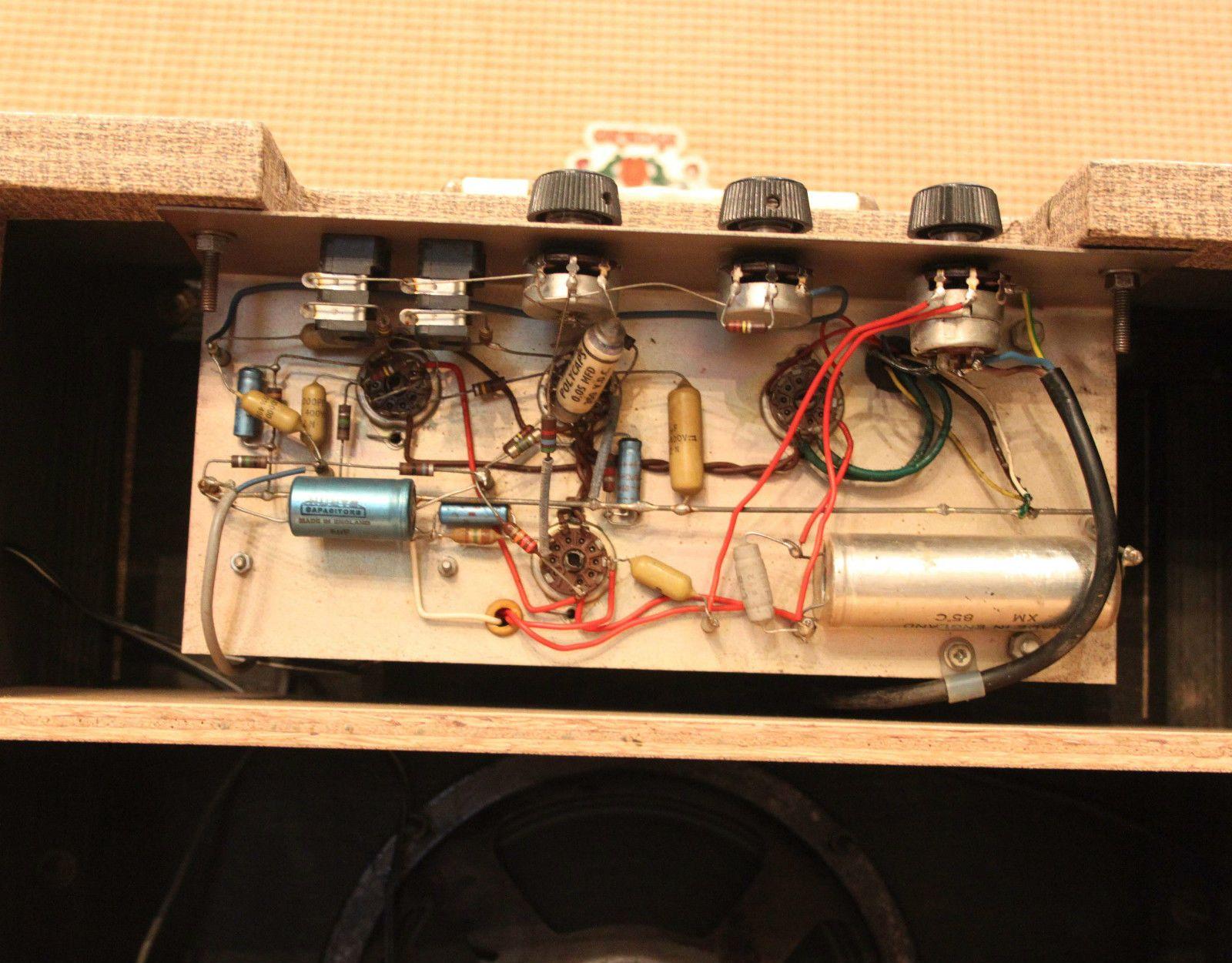 Vintage 1962 Vox AC4 Beige Fawn Tolex 1x8 Elac Valve Amp
