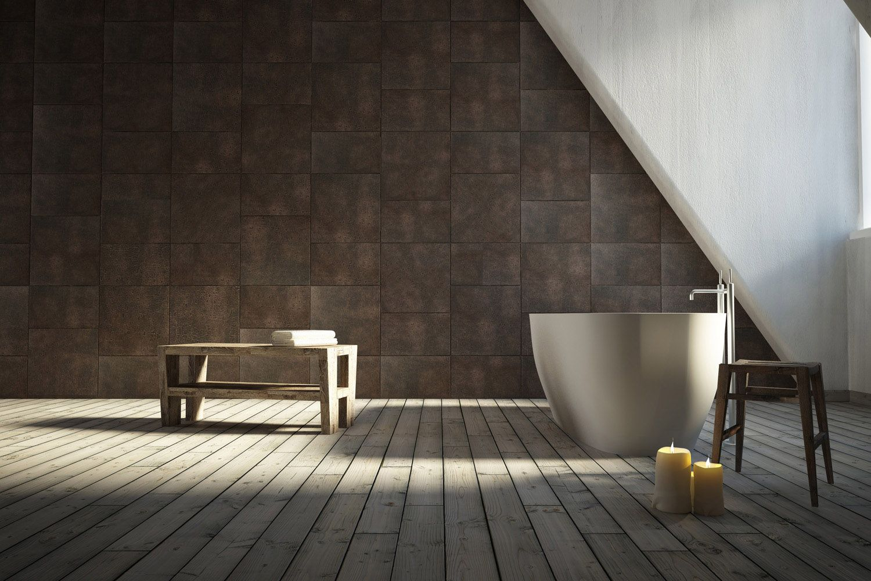 Bathroom Lapèlle Design Leather Tiles For Floor