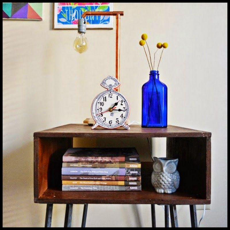 Diy copper dipped hairpin leg side table copper diy