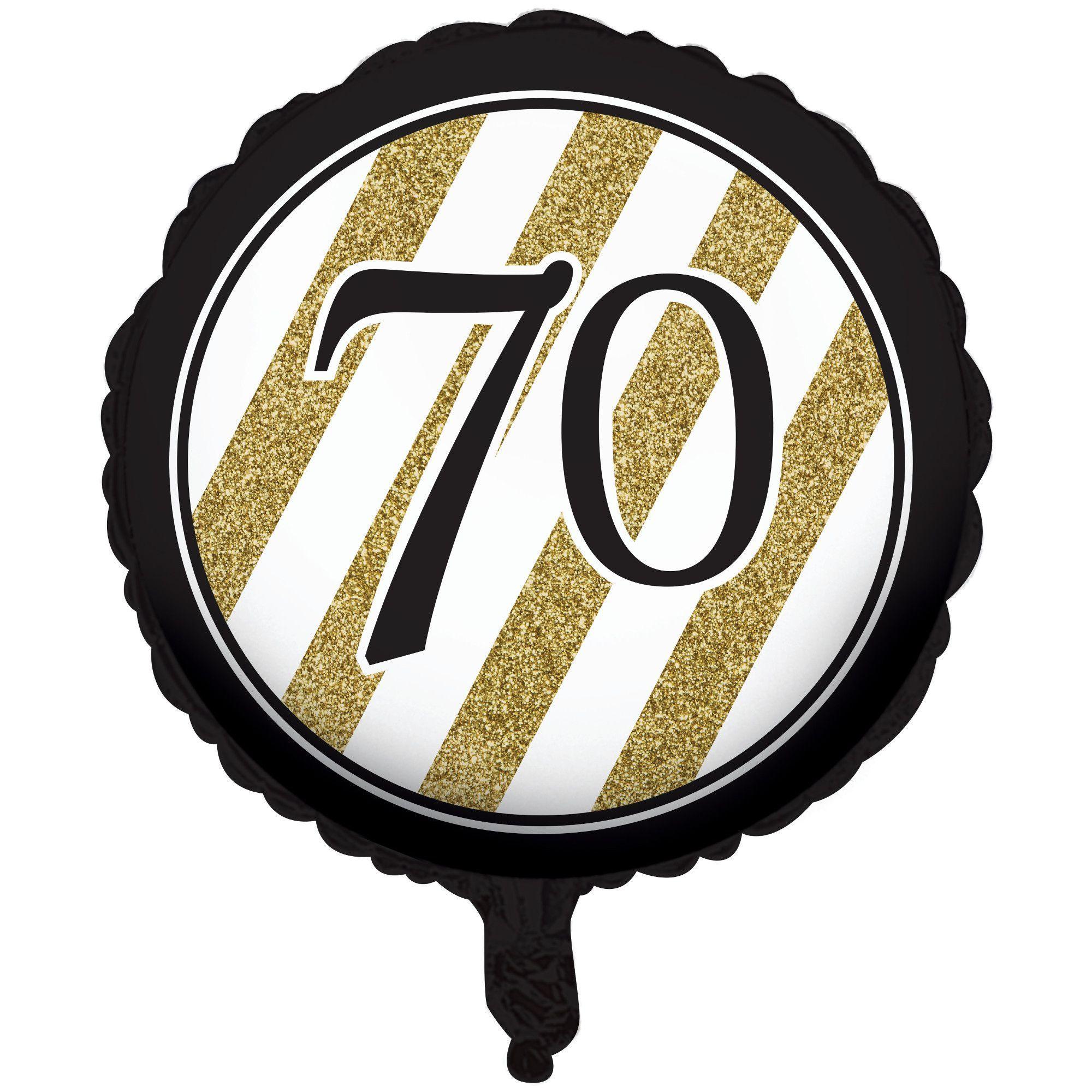 Black Gold Metallic 70th Birthday Ballooncase Of 10 70 Birthday