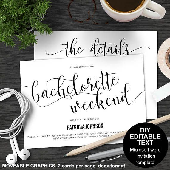 How To Make An Itinerary In Word Bachelorette Weekend Invitation  Bachelorette Party Bachelorette .