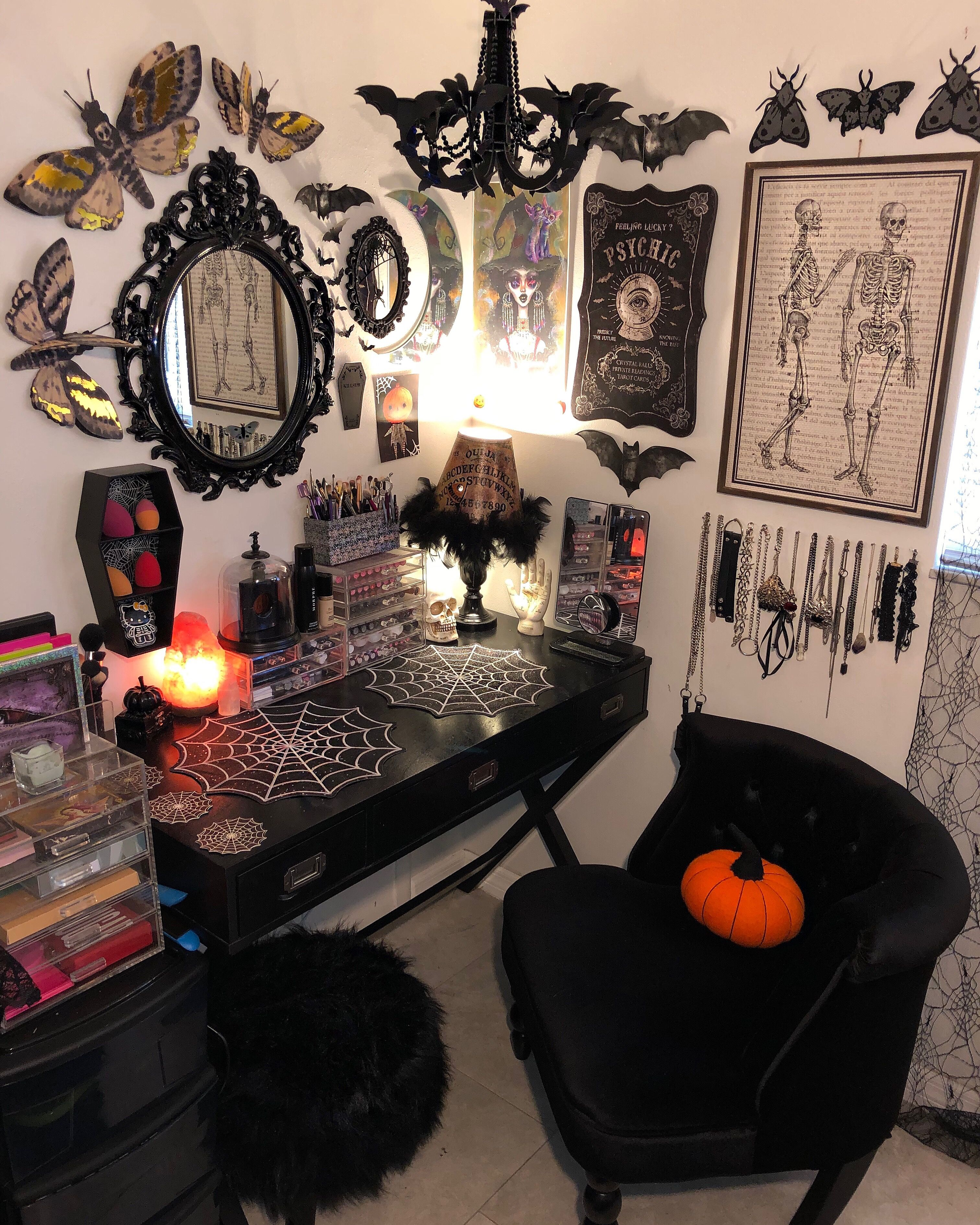 My Sanctuary Ig Lady Sylph Goth Gothdecor Halloween Spooky Creepy Gothhome Spookyhome Hallow Halloween Room Decor Goth Home Decor Dark Home Decor