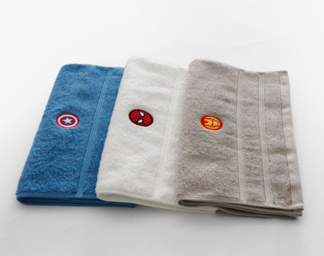 Marvel Towel Bath Towel Ironman Captainamerica Spiderman