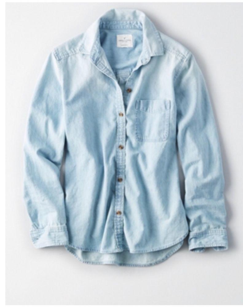 75e266fd8746 Blue Jean Button Up Shirt Womens