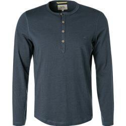 Photo of Cammello attivo Langarm-T-Shirt Herren, Baumwolle, blau Camel ActiveCamel Active