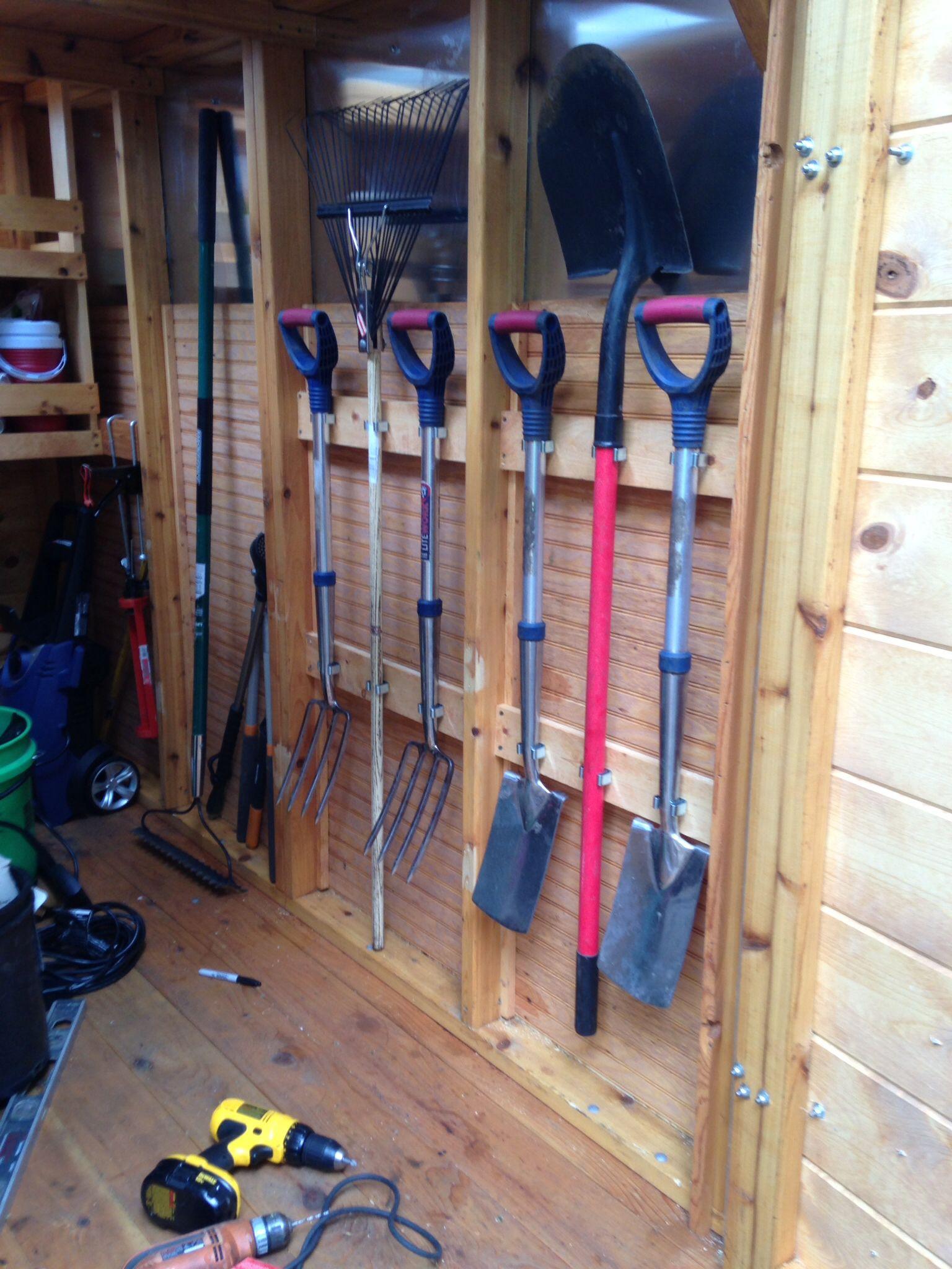 Horizontal Garden Tool Rack