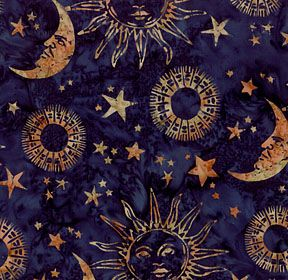 Sun and moon material for similar fabrics please look for Fabric with moons and stars