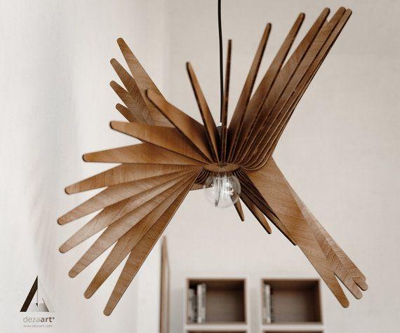 Küchenlampe Modern ~ Pendentif en bois clair lustre lampe moderne ombre de lampe d