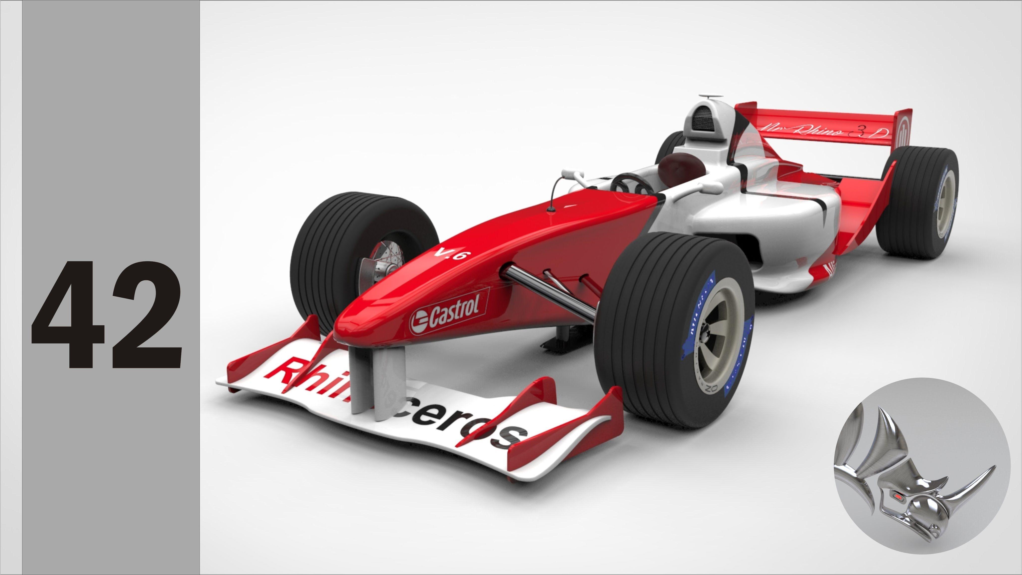 Tutorial Rhino 3D | Modelar un carro de fórmula 1 (42/45)