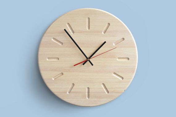 15.7in Modern Wood Wall Clock