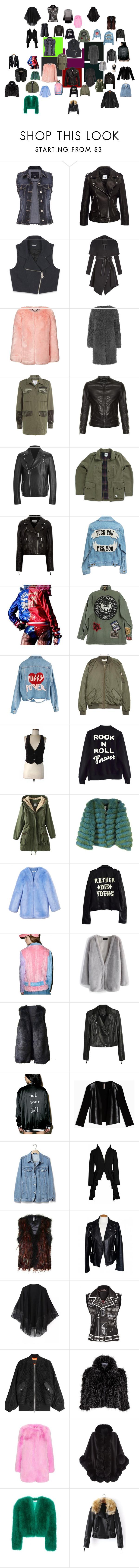 """Isabella's favourite outerwear"" by effyswanhaze on Polyvore featuring moda, maurices, Anine Bing, Bebe, BCBGeneration, L.K.Bennett, SJYP, Dolce&Gabbana, Versus e Vans"