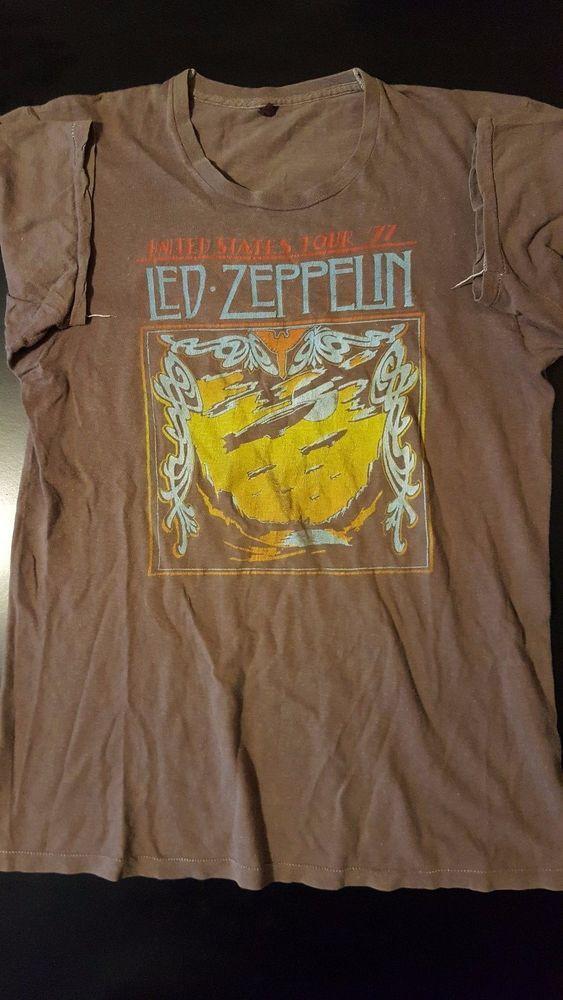 Rare Vintage 70s 1977 Led Zeppelin Us Concert Tour T Shirt Page Plant Rock Lp Tour T Shirts Led Zeppelin Shirts