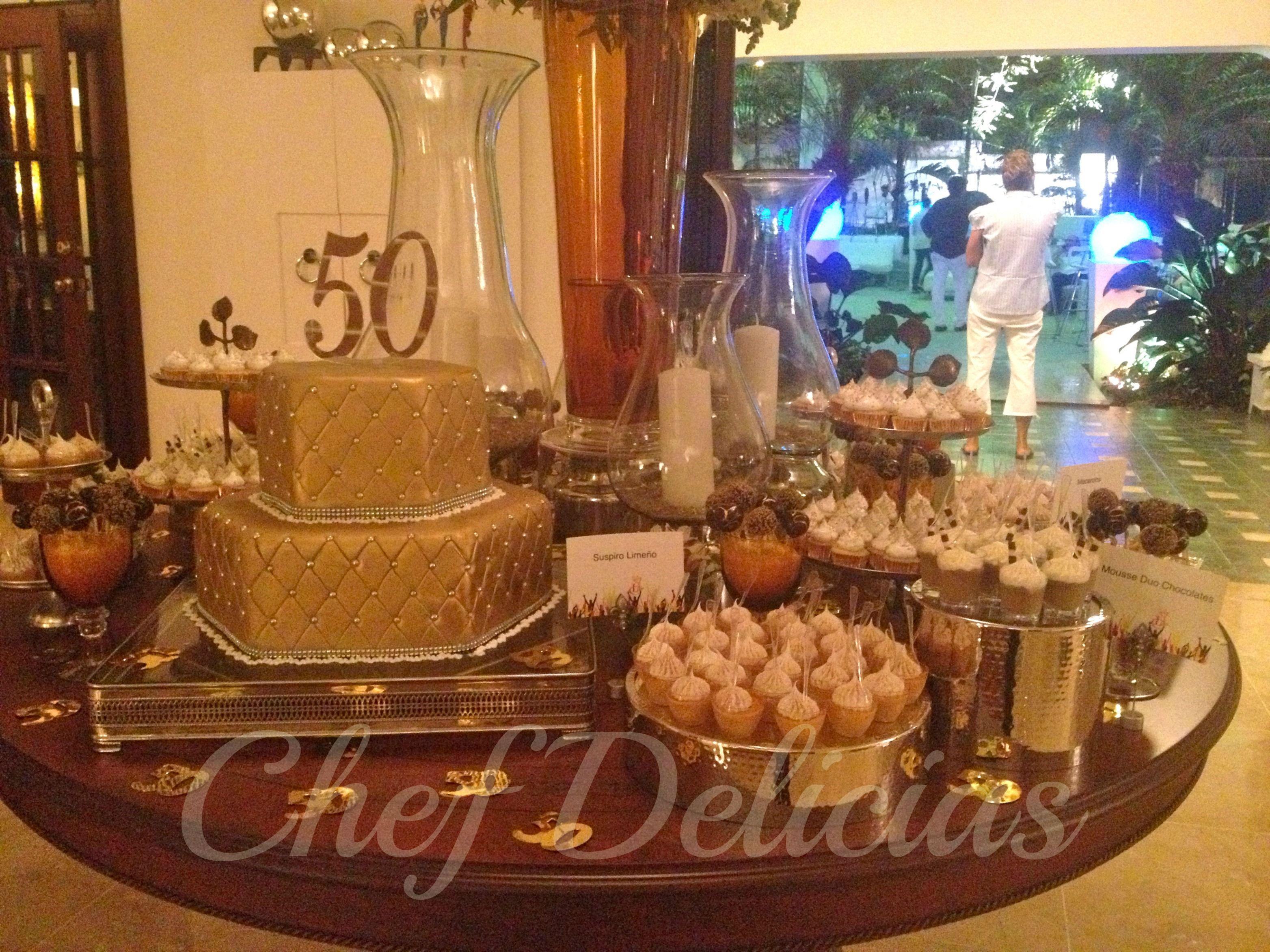 Mesa postres cumplea os 50 bodas de oro pinterest - Decoracion 50 cumpleanos ...