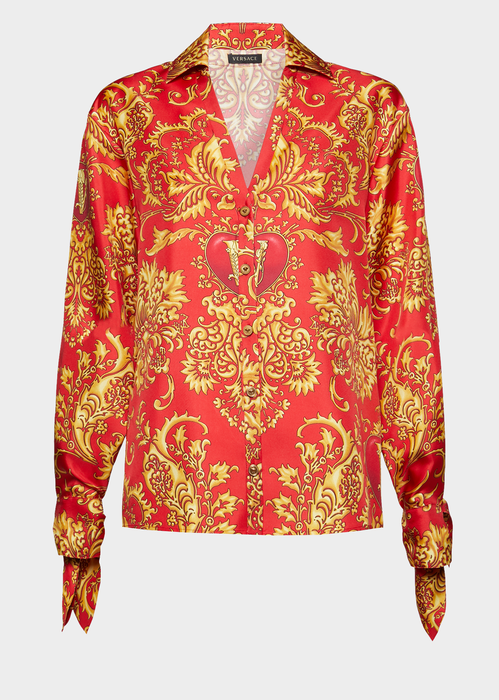 09208ac0f V-Mine Print Silk Shirt for Women   US Online Store in 2019   TOPS ...